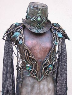 Organic armour (Foam and latex).  Nicely done chap!