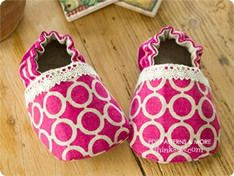 84 Lilac Baby Booties PDF Pattern