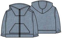 бесплатная выкройка куртки для ребёнка children's sizes