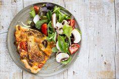 Pilz-Tarte mit Wildkräutersalat | Rewe 7xregional {Werbung}