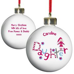 Personalised Christmas Bauble - Daughter  from Personalised Gifts Shop - ONLY £9.99