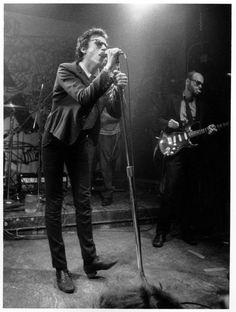 Richard Hell and Bob Quine performing at CBGB, photo Godlis, 1978 • via