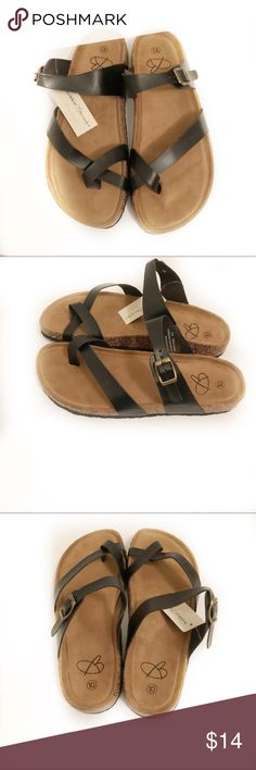 6ae9243c446 BNWT Bobbie Brooks Black Sandals Size 10 Brand new with tags! Black sandals  with cork