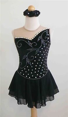 Skating Dresses-Girls 21226: Kim Competition Ice Skating Dress Child Size 8 BUY IT NOW ONLY: $67.0