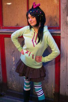 An Adorable Vanellope von Schweetz (Wreck-It Ralph) Costume