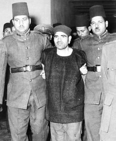 Mohammed Farghali, centre, a Muslim Brotherhood leader, found guilty planning the attempted assassination of Egyptian Premier Gamal Abdel Nasser at Alexandria on Oct. is escorted to the. Gamal Abdel Nasser, Military Rule, Muslim Brotherhood, Old Egypt, North Africa, Weird Facts, Cairo, Alexandria, Funny Pictures