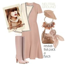 """""""Cool Neutrals"""" by ragnh-mjos ❤ liked on Polyvore featuring Valentino, Isabel Marant, Nest, Halogen and Stella & Dot"""