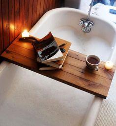 Staycation bathroom, featuring Tub Caddy.