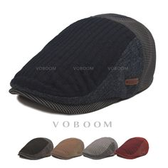 New Voboom Mens Newsboy Driver Gatsby Beret Hats Fashion Cabbie Golf Flat  Cap 4203bcbffc1f