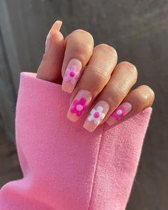 Cute Acrylic Nail Designs, Simple Acrylic Nails, Best Acrylic Nails, Fun Nail Designs, Cute Summer Nail Designs, Square Acrylic Nails, Square Nails, Gel Nails, Nail Polish