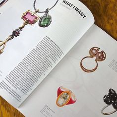 """The latest issue of Metalsmith magazine arrived. I am so honored to share my inclusion in the """"What I Want"""" feature by @susieganch with James De Givenchy of @taffinjewelry Stacey Lane, Helen Britton, @pollywales , Noam Elyashiv, and @adamfosterjewelry Wow! So much beauty and talent. Thank you Susie and #Metalsmithmagazine    #Regram via @gina.pankowski.jewelry"""