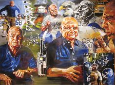Erk Russell Portrait by Steve Penley, on permanent display in the Betty Foy Sanders Georgia Artists Collection in the Center for Art & Theatre at Georgia Southern University.