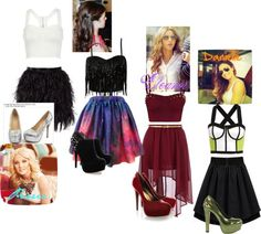 """Party Whit Eleanor, Perrie & Danielle"" by fabrizzia-niall-josh ❤ liked on Polyvore"