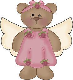 Girl Angel Bear