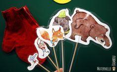 Pistes d'exploitation pédagogique de ce conte en PS : fichiers pour réaliser des marottes et des activités. Baby Art, Diy For Kids, Literacy, Activities For Kids, Fairy Tales, Illustration, Animation, Education, Winter