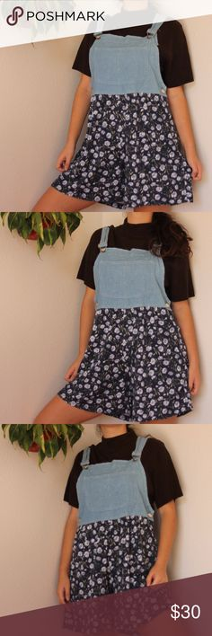 Vintage Overalls The cutest pair of vintage overalls with floral print shorts. in great condition. tagged size S but will fit larger, up to L Vintage Shorts