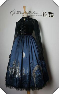 Magic Potion The Moon Castle Lace Up Lolita Jumper Dress - Restocked