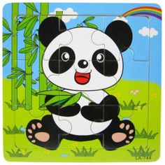 Wooden Panda Puzzle Educational Developmental Baby Kids Training Toy Jigsaw Board For Years Jigsaw Puzzle Lowest Price Cute Cartoon Animals, Baby Cartoon, Cartoon Kids, Cute Animals, Puzzles 3d, Wooden Jigsaw Puzzles, Puzzles For Kids, Toddler Toys, Baby Toys