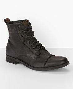 Levi's Lace Up Utility Boots - Black - Accessories & Shoes