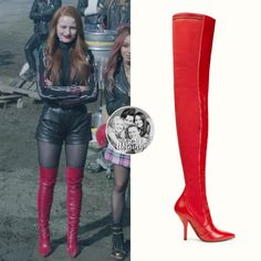 Cheryl Blossom wears these red leather Fendi cuissard boots on Riverdale Edgy Outfits, Girl Outfits, Cute Outfits, Fashion Outfits, Cheryl Blossom Riverdale, Riverdale Cheryl, Winter Chic, Red Fashion, Fashion Looks