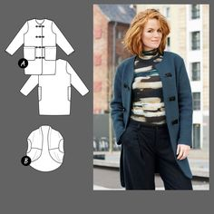 Mantel und Weste Größe 34 - Stoff & Stil