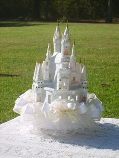 Cinderella's Castle Cake Topper or by cinderellaspretties on Etsy, $96.00