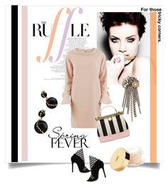 """Ruffles"" by kari-c ❤ liked on Polyvore featuring Gina Bacconi, Erickson Beamon, Yves Saint Laurent and ruffles"