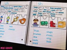Fluency Notebooks Digraphs Phonics Fluency Notebooks - awesome reading comprehension practice for first grade or kindergarten!Digraphs Phonics Fluency Notebooks - awesome reading comprehension practice for first grade or kindergarten! Phonics Reading, Teaching Phonics, Phonics Activities, Kindergarten Reading, Reading Activities, Reading Skills, Teaching Reading, Reading Comprehension, Learning