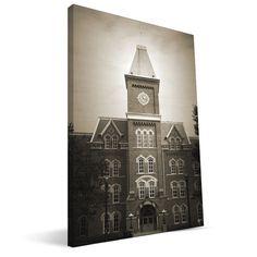 Ohio State Buckeyes University Hall Canvas Print