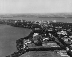 Aerial View of Isthmus Madison, WI  | 1940