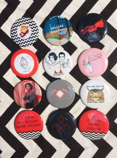 """Twin Peaks 2.25"""" pins by Graveface on Etsy https://www.etsy.com/listing/464028414/twin-peaks-225-pins"""