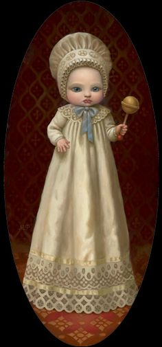 Baby With a Rattle:::Marion Peck