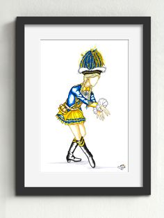 """Tanzmariechen Bürgergarde """"blau-gold"""" von 1904 e.V. Köln  In jedem Tanzmariechen steckt auch eine gut ausgebildete Ballerina. Viel Körpergefühl, Anmut und Disziplin sind von Nöten. Die fließenden Bewegungen, welche das Bürgergarde Mariechen zelebriert, erfordern größte Körperkontrolle."""