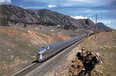 California Zephyr in Colorado - Classic Trains Magazine Via Rail, California Zephyr, Vintage Trains, Rail Train, Train Posters, Train Engines, Rolling Stock, Diesel Locomotive, Golden Gate Bridge