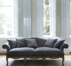 Awesome Classic Sofas Furniture And The Sofa Pillows Grey Upholstery In Traditional Living Room With Wooden Floor Sofa Couch, Couch Furniture, French Furniture, Upholstered Furniture, Furniture Design, Sofa Pillows, Furniture Movers, Furniture Stores, Cheap Furniture