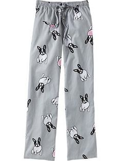 Boston Terrier sleep pants---one for my boyfriend and one for me.
