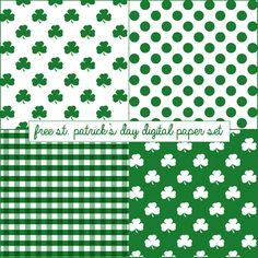 Free St. Patrick's Day Digital Paper