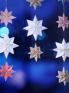 Origami star curtain by jutta / kootut murut,