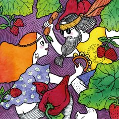 Two vegan lovers playing with vegs #illustration #watercolor #marker #couple #beautifulcouple #upsidedown #color #2018calendar Art Posters, Beautiful Couple, Marker, Lovers, Graphic Design, Watercolor, Vegan, Illustration, Pen And Wash