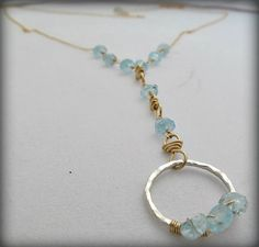 Women's Necklace Blue as the Sea Necklace by RoseGilleyDesigns, $110.00
