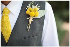 Boutonniere (Baby's Breath & Billy Balls)                   (Last one...I promise!)