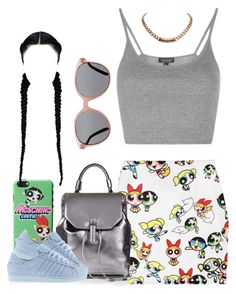 """""""Untitled #892"""" by cjasmyne ❤ liked on Polyvore featuring O-Mighty, Topshop, adidas and Givenchy"""