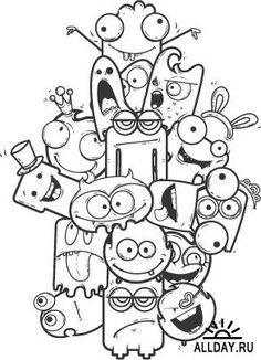 Забавные векторные монстры | Cute Monsters Vector
