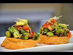 Reel Flavor - Asparagus & Avocado Bruschetta