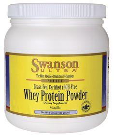 Grass-Fed, Certified rBGH-Free Vanilla Whey Protein Powder