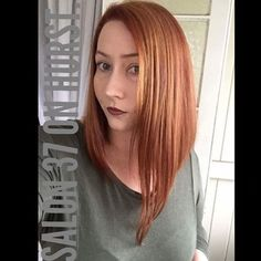 Copper Long Bob Hairstyle