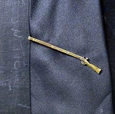 Brass Marksman Rifle Tie Bar. $31.00, via Etsy.