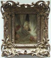 Jean-Honoré FRAGONARD (Grasse, 1732 - Paris, 1806)  Les curieuses  Vers 1775 - 1780  H. : 0,16 m. ; L. : 0,13 m.  Donation Charles Sauvageot, 1856 , 1856  M.I. 860