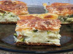 Reteta culinara Aperitiv tarta cu zucchini din categoria Mancaruri de legume. Specific Romania. Cum sa faci Aperitiv tarta cu zucchini
