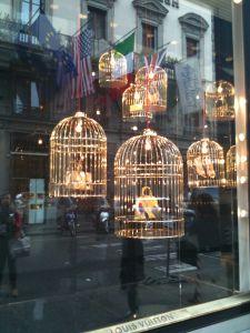 Louis Vuitton Birdcage Window Display